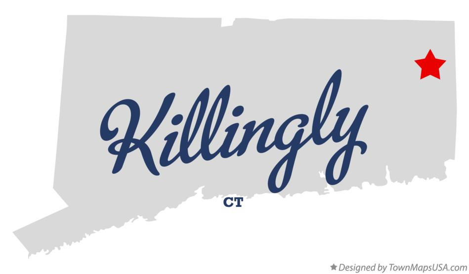 Map of Killingly Connecticut CT