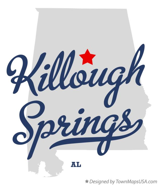 Map of Killough Springs Alabama AL