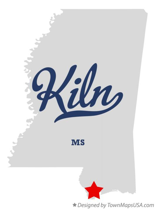 Map of Kiln Mississippi MS
