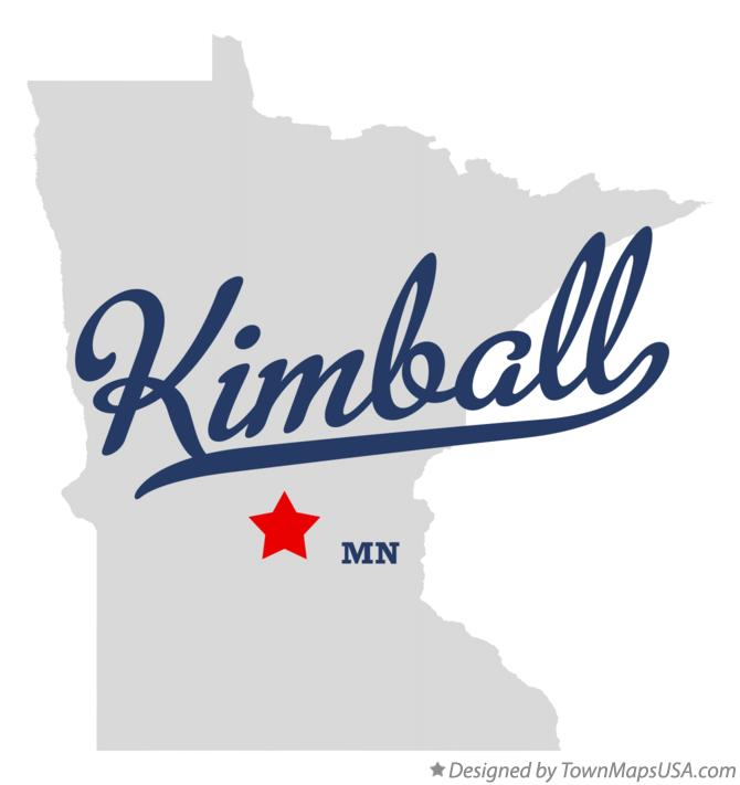 Map of Kimball Minnesota MN