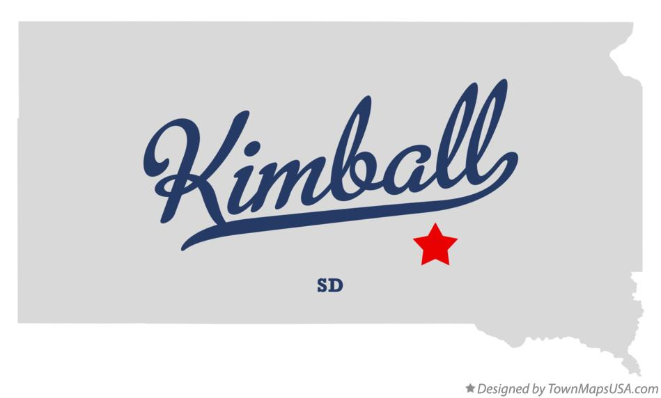 Map of Kimball South Dakota SD