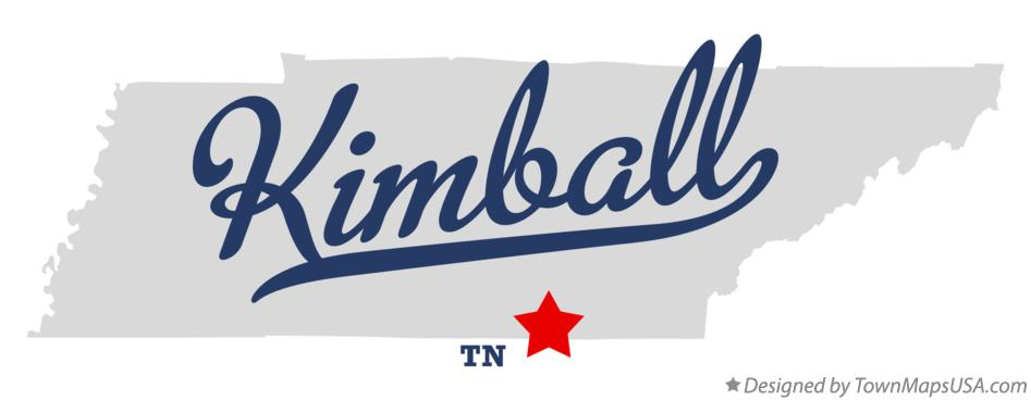 Map of Kimball Tennessee TN