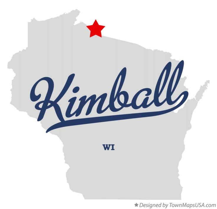 Map of Kimball Wisconsin WI