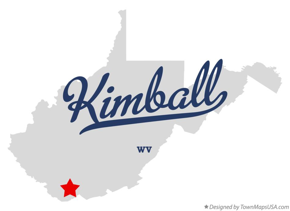 Map of Kimball West Virginia WV