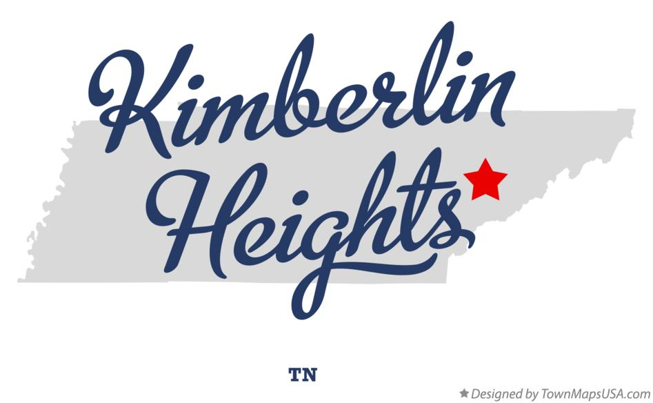 Map of Kimberlin Heights Tennessee TN
