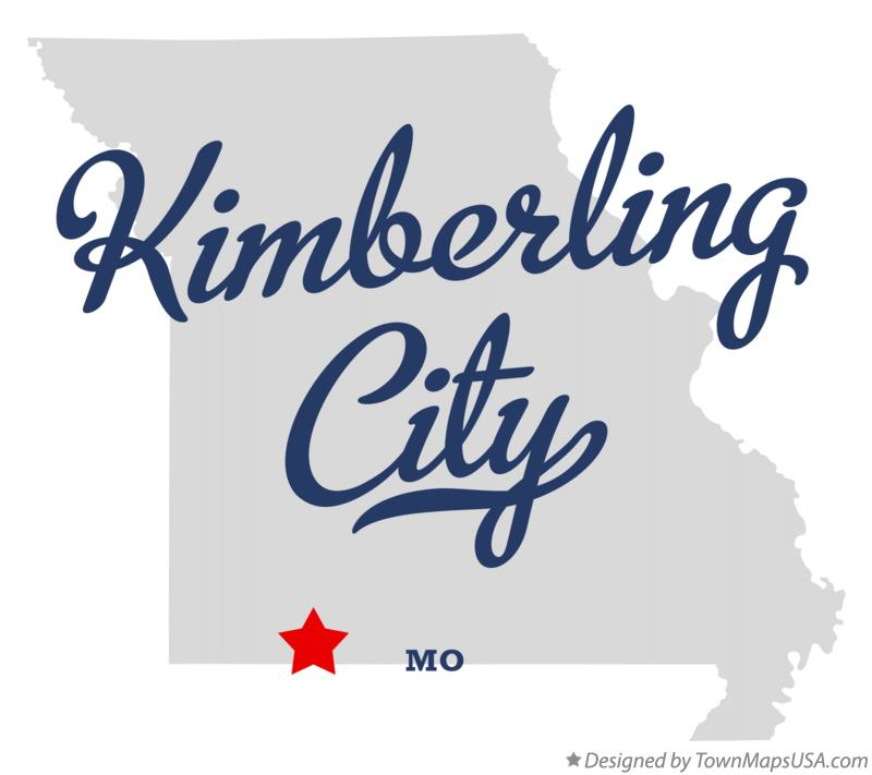 Map of Kimberling City Missouri MO