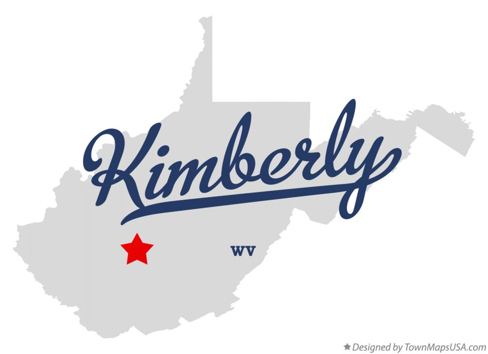 Map of Kimberly West Virginia WV