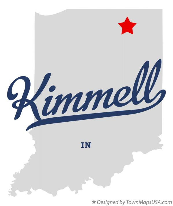 Map of Kimmell Indiana IN