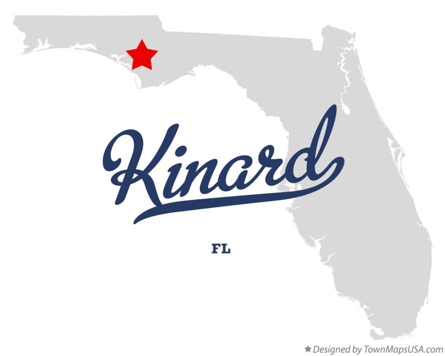 Map of Kinard Florida FL