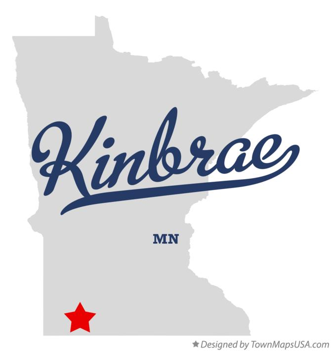 Map of Kinbrae Minnesota MN