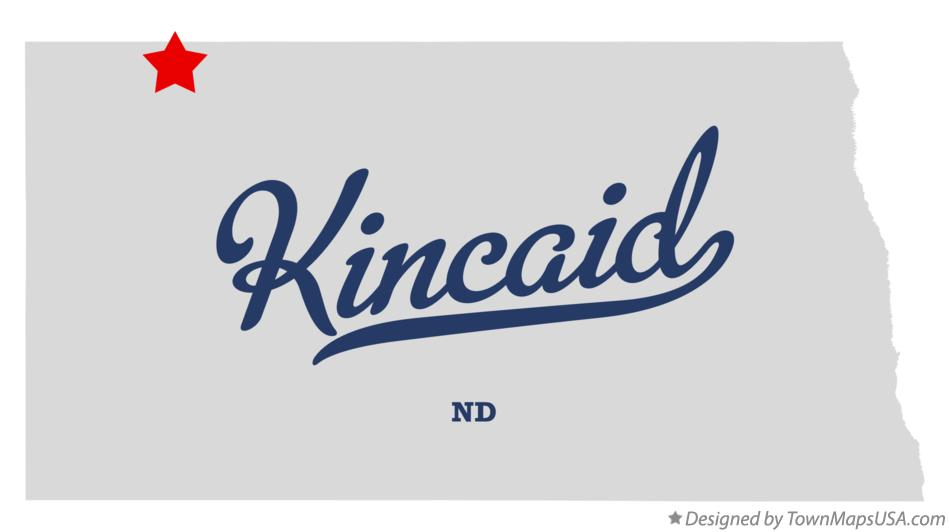 Map of Kincaid North Dakota ND