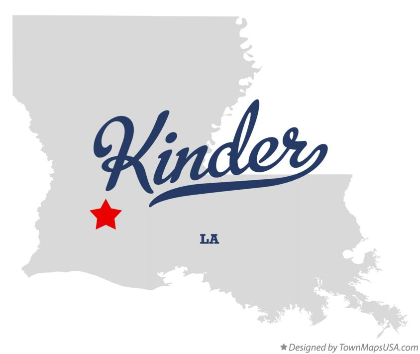 Kinder (LA) United States  city photos : Map of Kinder, LA, Louisiana