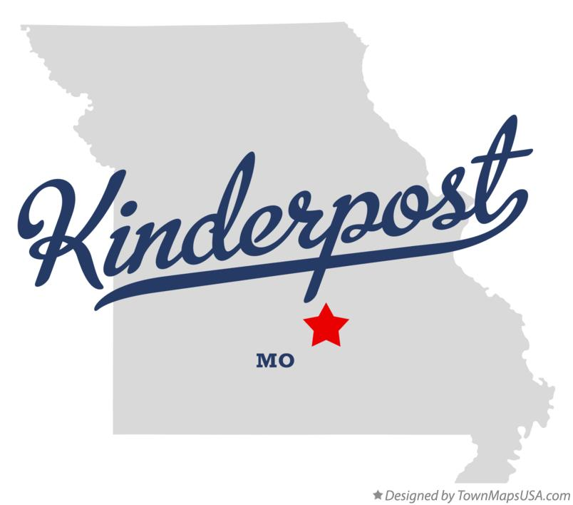 Map of Kinderpost Missouri MO