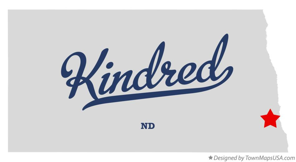 Map of Kindred North Dakota ND