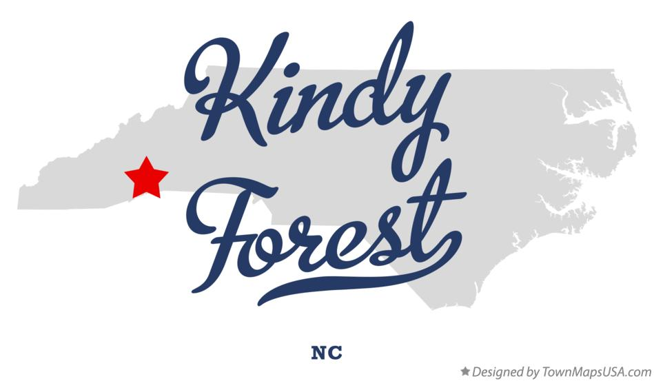 Map of Kindy Forest North Carolina NC