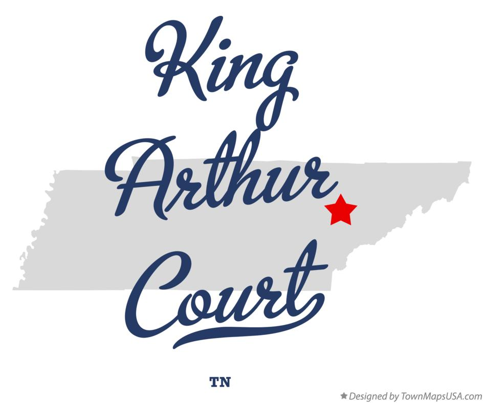 Map of King Arthur Court Tennessee TN