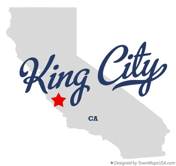 Map of King City California CA