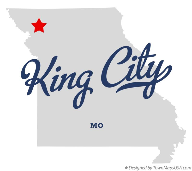 Map of King City Missouri MO