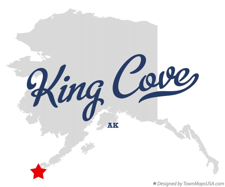 Map of King Cove Alaska AK