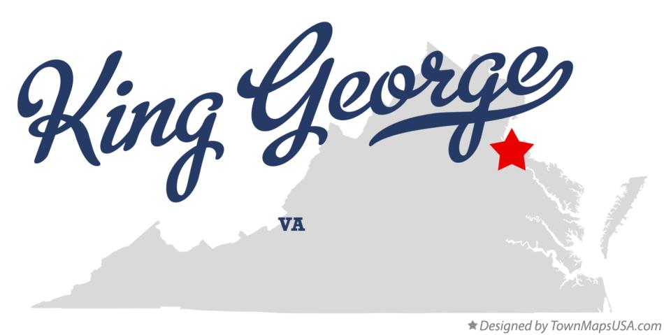 Map of King George Virginia VA