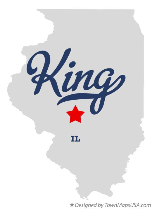 Map of King Illinois IL