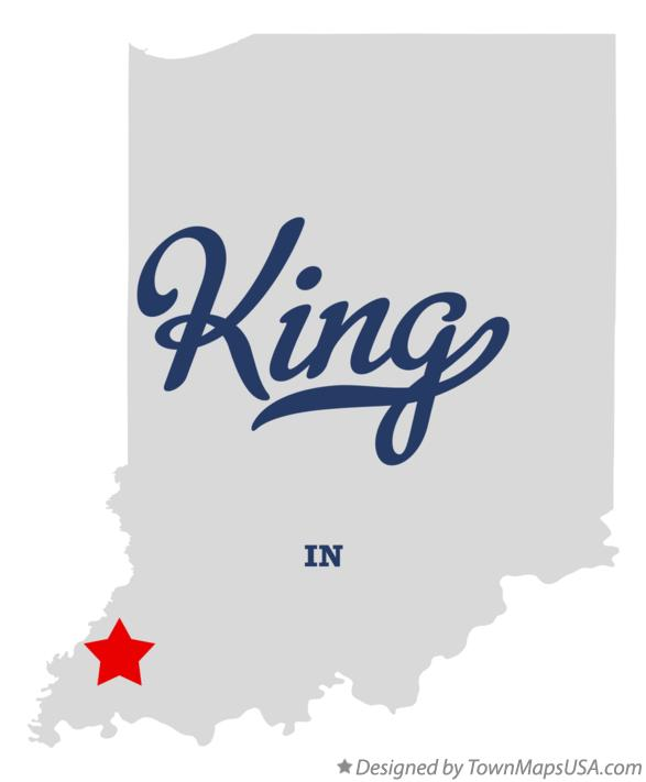 Map of King Indiana IN