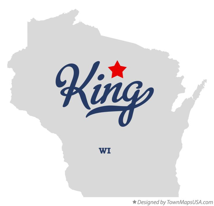 Map of King Wisconsin WI
