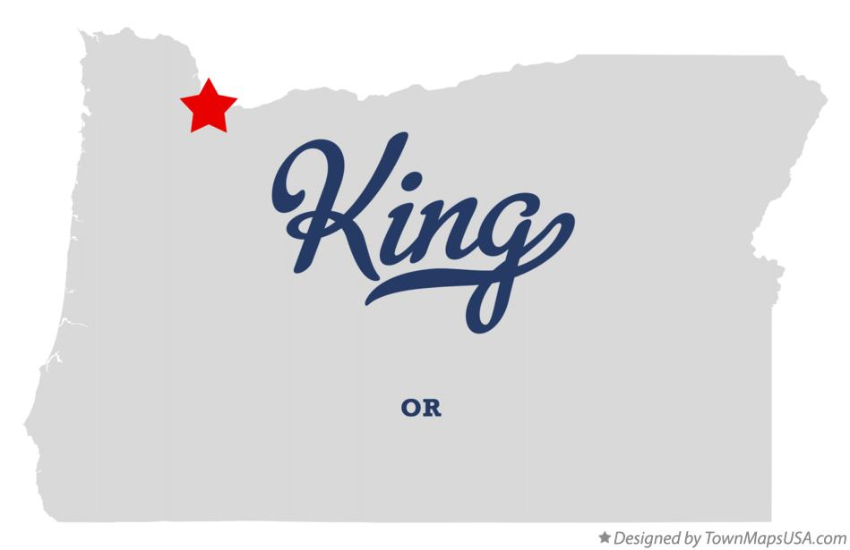 Map of King Oregon OR