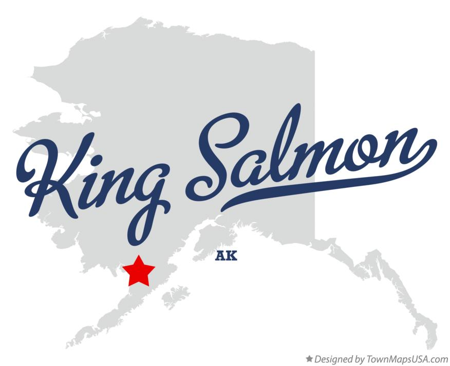 Map of King Salmon Alaska AK