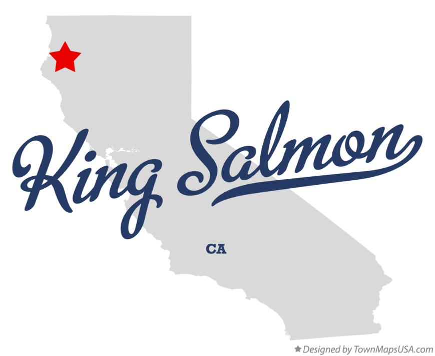 Map of King Salmon California CA
