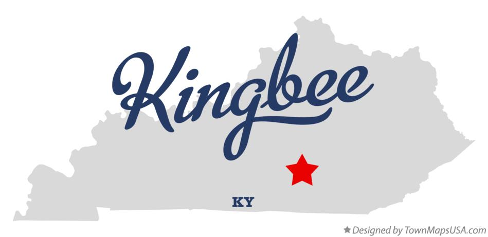 Map of Kingbee Kentucky KY