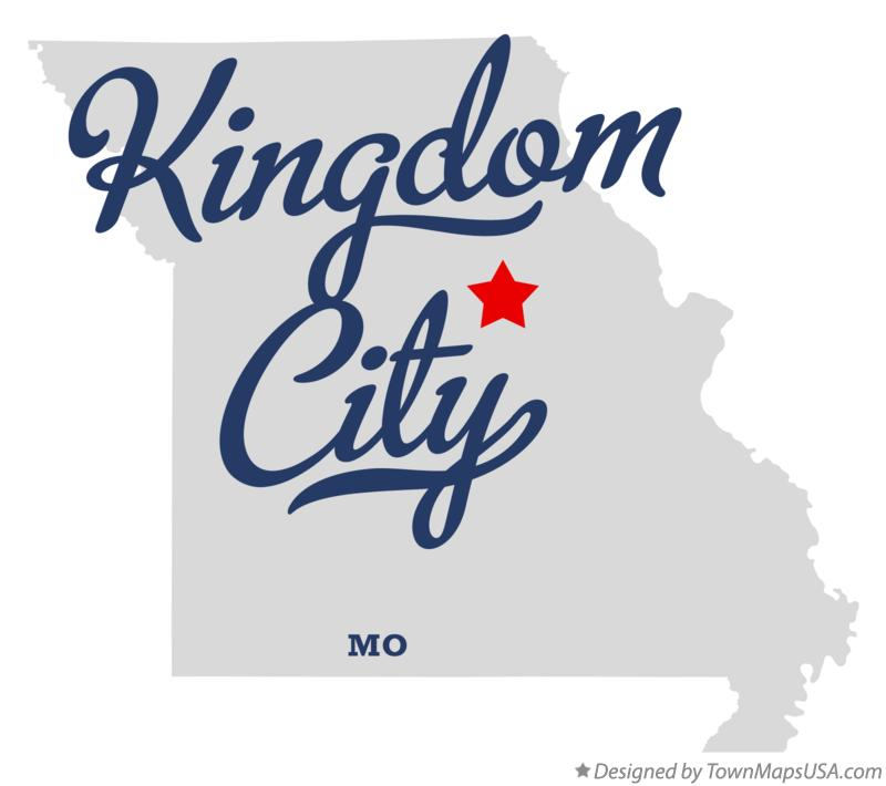 Map of Kingdom City Missouri MO