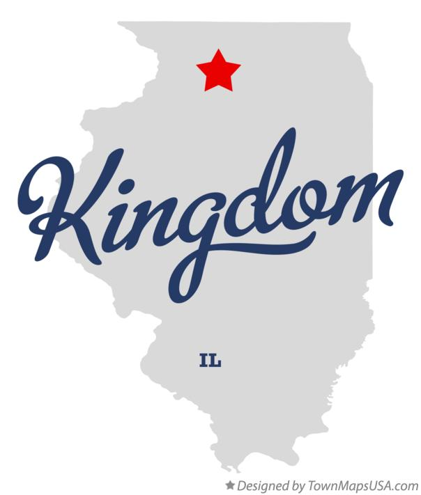 Map of Kingdom Illinois IL