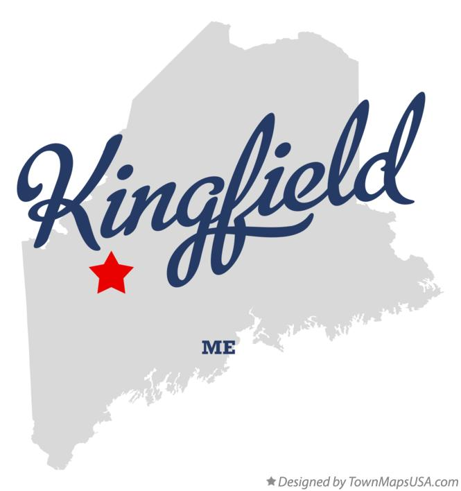 Map of Kingfield Maine ME