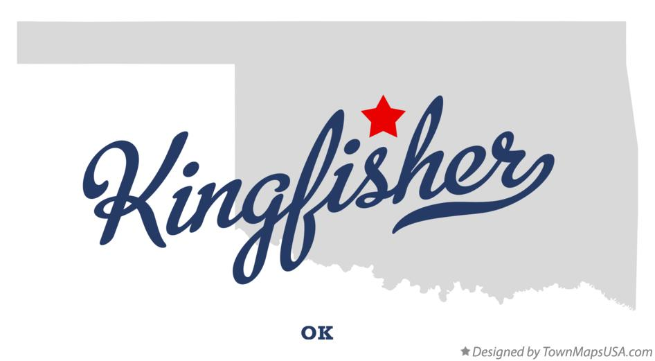 Map of Kingfisher Oklahoma OK