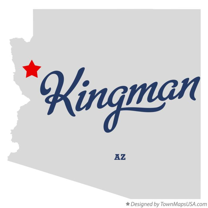 Map of Kingman Arizona AZ