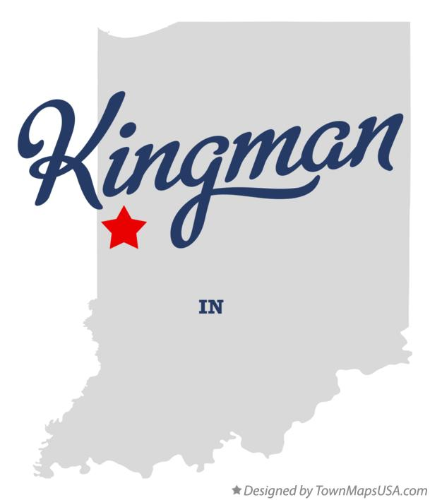 Map of Kingman Indiana IN
