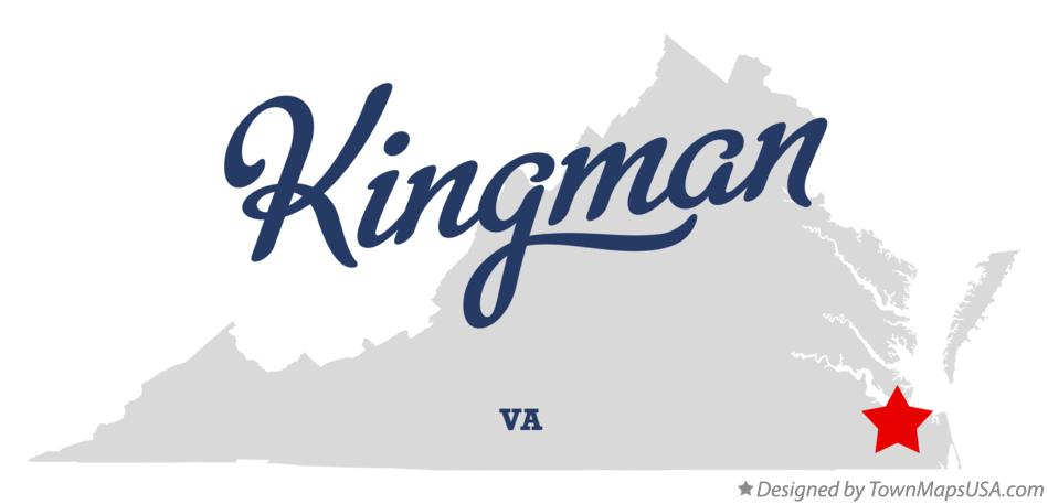 Map of Kingman Virginia VA