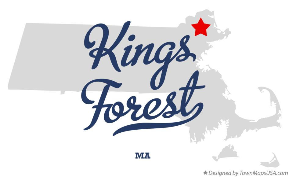 Map of Kings Forest Massachusetts MA