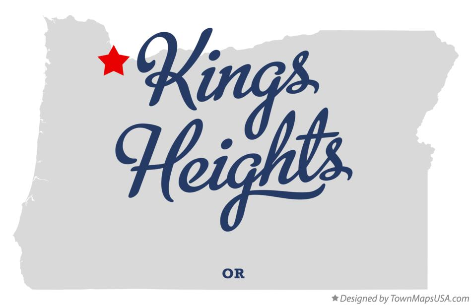 Map of Kings Heights Oregon OR