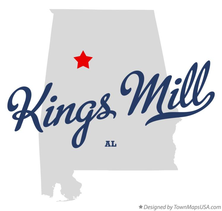 Map of Kings Mill Alabama AL
