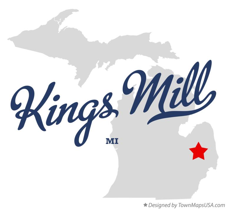 Map of Kings Mill Michigan MI