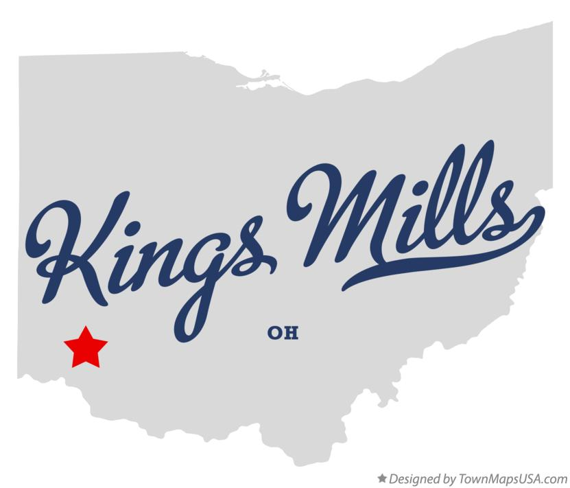 Map of Kings Mills Ohio OH