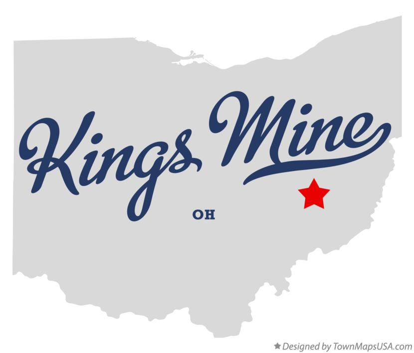 Map of Kings Mine Ohio OH
