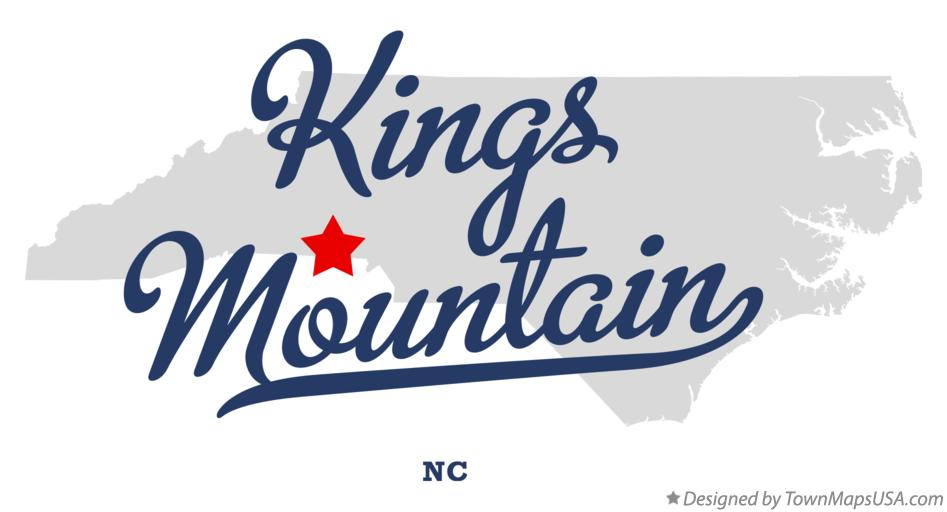 Map of Kings Mountain North Carolina NC