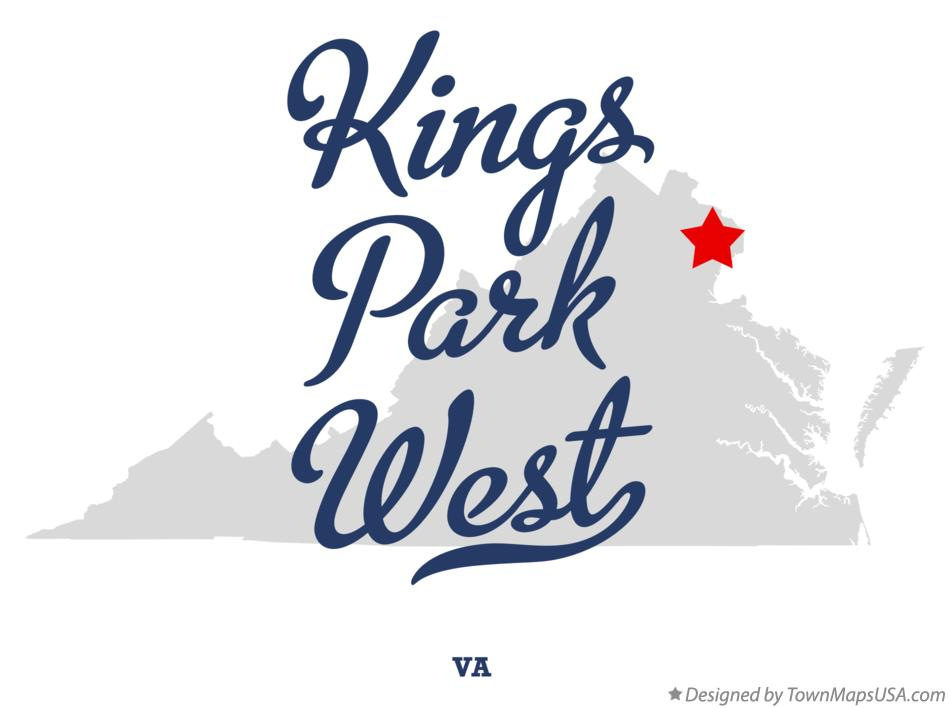 Map of Kings Park West Virginia VA