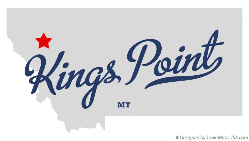 Map of Kings Point Montana MT