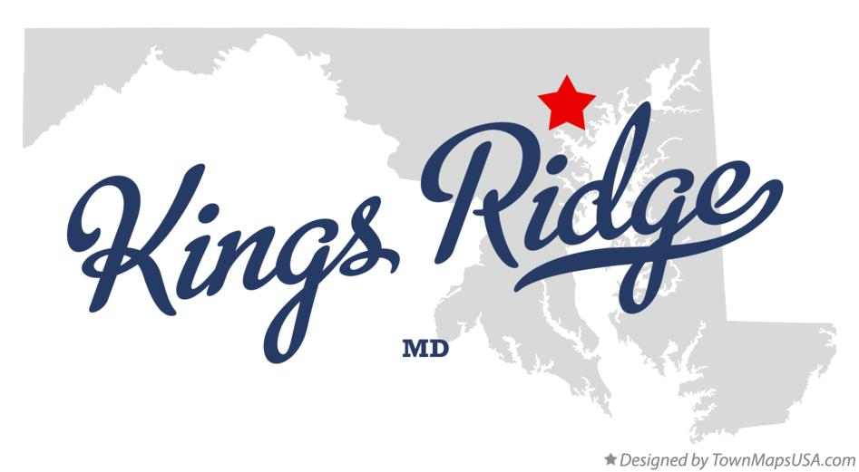 Map of Kings Ridge Maryland MD