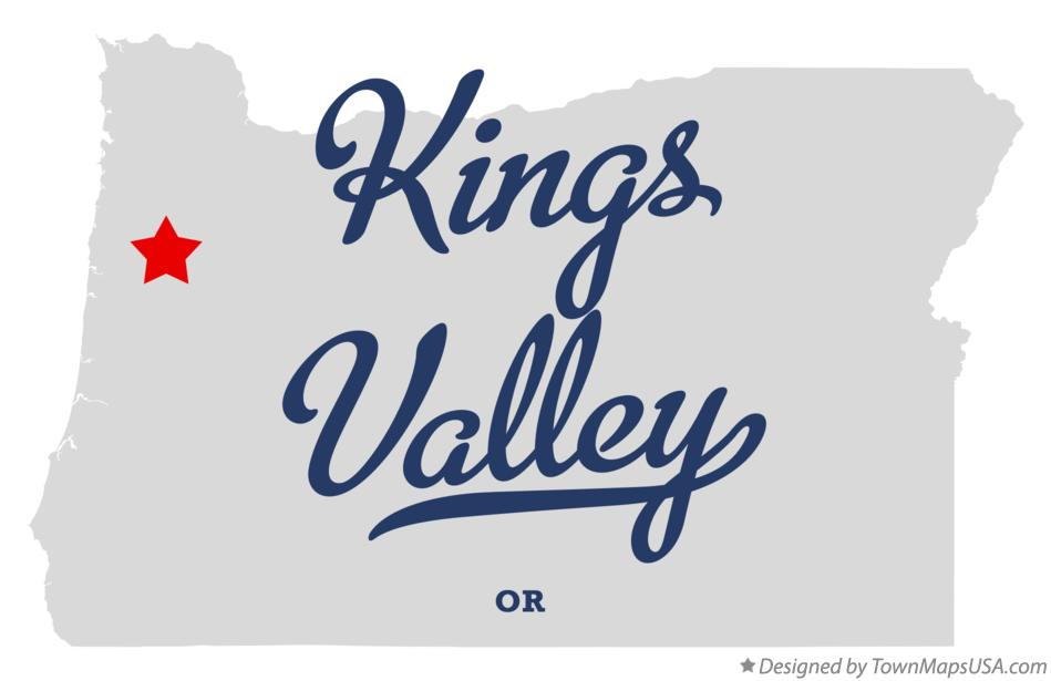 Map of Kings Valley Oregon OR
