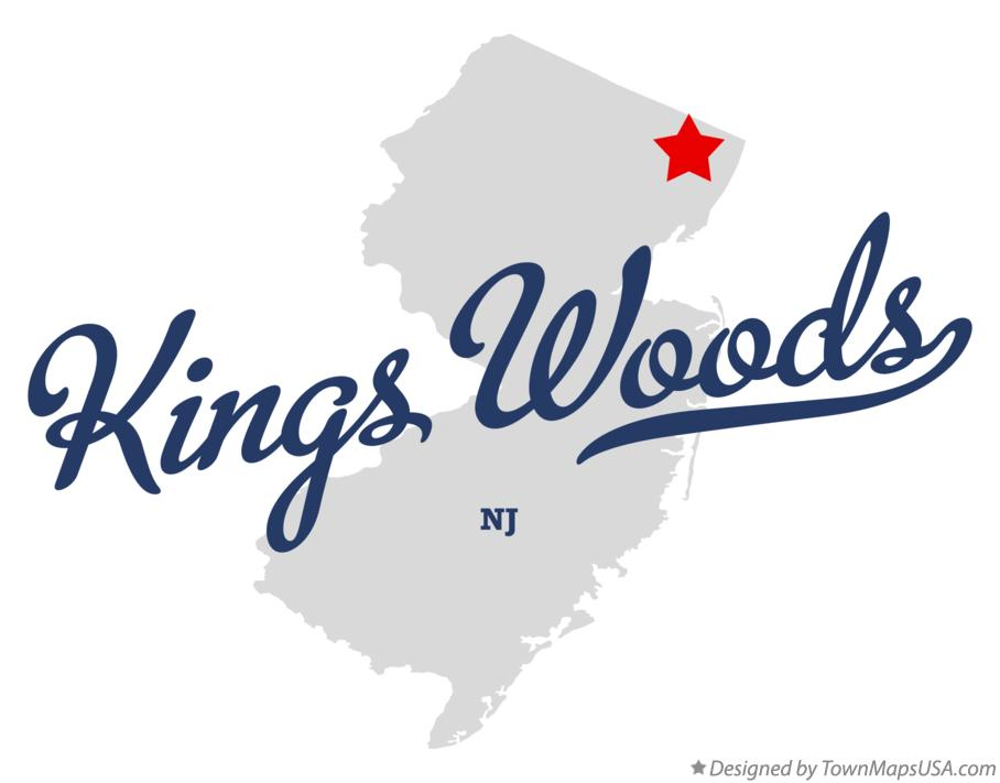 Map of Kings Woods New Jersey NJ